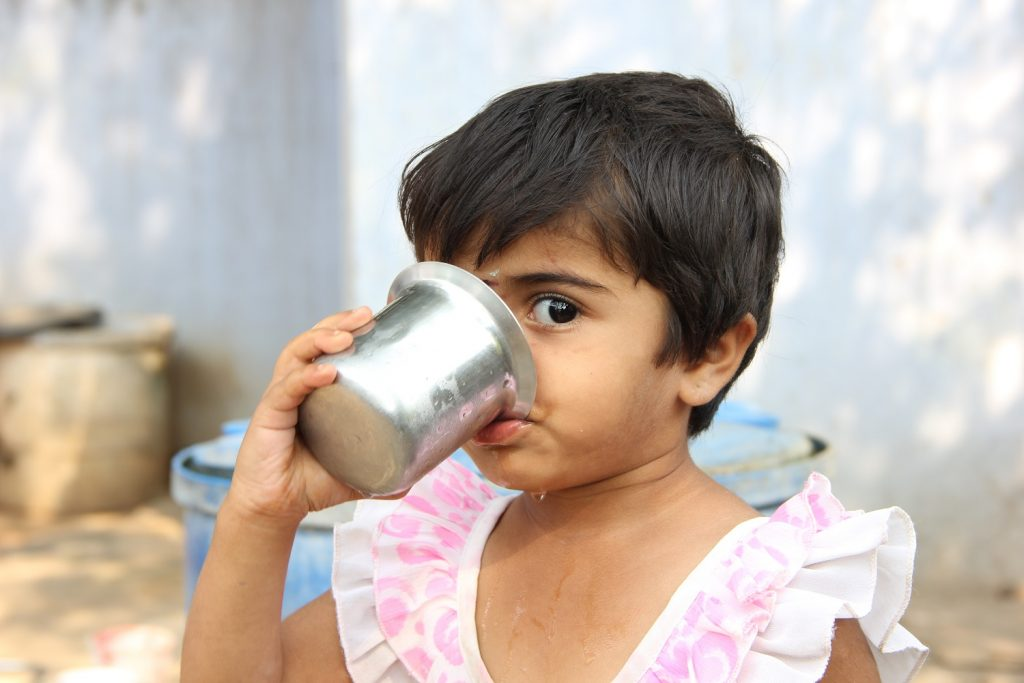 Rural Girl Drinking water